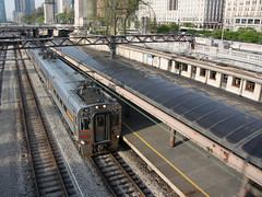 NICTD43ChicagoIL5-17-18 (railohio) Tags: metra nictd trains chicago illinois 051718 j3 station southshore interurban chicagosouthshoresouthbend northernindianacommutertransportationdistrict vanburenstation historic michiganavenue loop