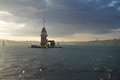 Maiden's Tower Istanbul (Geronimo52) Tags: istanbul outdoor bosporus turkey ambiance clouds tower city seagull