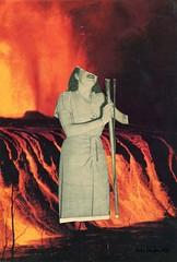 Sentimiento (hola.milagonzalez@gmail.com) Tags: lava caos feelings feel sentir sentimiento corazón canto sing women love volcán volcano collage analogo analogue paper papel