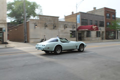 Don't Let Life Pass You By (Flint Foto Factory) Tags: chicago illinois urban city spring may 2018 north edgewater 1978 1979 chevrolet chevy corvette moving motion inmotion generalmotors gm fiberglass fiberglas sports car two seat tuesday evening pm neighborhood broadway granville intersection granvillepictures sovereign bar lounge barr funeral home business store front cvs drug pharmacy worldcars