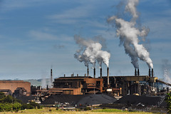 Glenbrook Steel Mill coal piles (Photography by Julie Simpson) Tags: awhitupeninsular awhitu southauckland newzealand glenbrook steel mill
