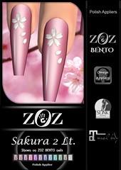 {ZOZ} Sakura 2 Lt pix bento L (Zoz icon) Tags: zoz zozicon {zoz} applier mesh meshnails mani manicure pedi pedicure frenchtip french beach ocean starfish slocca original slink maitreya omega vista vistabento