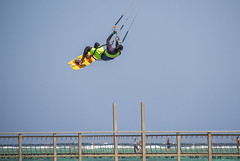 crazy jump over the jetty (werner boehm *) Tags: wernerboehm egypt jetty kite jump redsea sinai