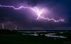 Burza nad Burzynem #3 (mirosławkról) Tags: poland biebrza burzyn water sky clouds sundown thunder lightning rain river storm nikonnaturephotography