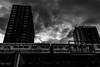 The hell train (mathieuo1) Tags: chicago usa america travel explore discover train rail railways wide wideangle urban transportation city architecture town downtown shape shadow light clouds cloudscape sky skyglory skyscape building skycrapper oppression mood feelings dark deep lights illumination shady blackandwhite black bnw composition rules graphic photography large loop abstract realization sureal sun blur exposure expression expressway nikon dlsr art fineart artlight mathieuo