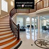 Metropolitan Tile & Stone (Metropolitan Tile) Tags: entryway stunning banister ceiling corridor curved design door doorway enter entry floor foyer front glossy high home indoor interior marble mediterranean modern mosaic nobody spacious staircase stairs story style tiled two walk walls waterfront way welcome