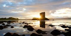 Castle Stalker (andrewmckie) Tags: castlestalker castles scottishcastles scenery scottishscenery scottish scotland reflections sunset