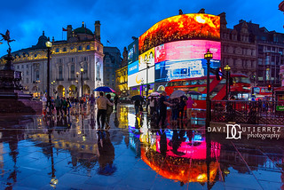 When It Rains - Piccadilly Circus, London, UK