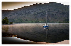 Ullswater Dawn (muddybootsuk) Tags: ullswater yacht wind dawn placefell reflections mist stpatrickswell sunrise moorings morning stillness serenity birdsong sailing watersports nikond810 muddybootsuk cumbria glennridding patterdale north northernengland northwest