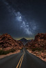 Nightcall (PixStone) Tags: usa national park nevada milky way nightscape landscape desert valley fire road night stars nature sand sandstone orange red state nikon d7100