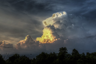 Glowing Cloud at Sunset
