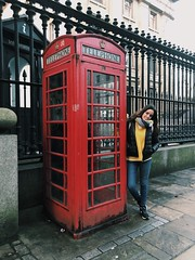 (maycambiasso98) Tags: cold winter turism happiness enjoy woman me girl world red telephone city travel visit england inglaterra londres london