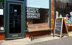 Anyone Fancy A Waffkes !! (standhisround) Tags: seat bench benchmonday stalbans hertfordshire shops england uk sign hbm