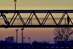 Alone on the bridge over railroad (dtankosic) Tags: belgrade bridge sunset serbia 7dwf