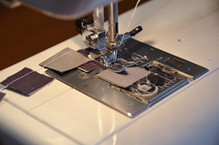 """9. Take one pile of pairs, and sew 1/4"""" inseam along right edge. (osiristhe) Tags: nikond5100 18200mm quilting sewing needlework"""