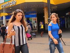 Croydon Belles (Luxifurus) Tags: hip hipshot fromthehip candid unposed covert unaware secret stolen gimp commute london street portrait urban woman girl female pretty beautiful hands faces