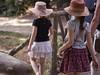 Around the park (Romy Stills) Tags: children kids hat flou spring girl young park shadow panasonic lumix dmc g5 rennes france europe thabor