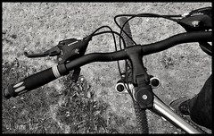 Hitting the Road (larry_shone) Tags: bike cycling blackandwhite phonepics claudbutler