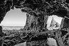 El Cantabrico (13) (Piotr Stachowiak) Tags: albuerne asturias bw bkt españa may primavera scapes sea spain springtime blackwhite seascape view campiecho cantabrico piotrstachowiak water waterreflection waterscape beach rock