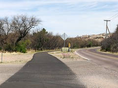 South of Tucson we enjoyed some newly paved cycle paths separated from the road.