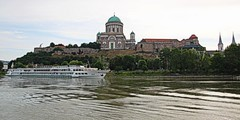 Esztergom, Hungary (yorkiemimi) Tags: hungary ungarn donau danube riverboat ship church basilica esztergom building river