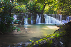 Deep forest waterfall (Patrick Foto ;)) Tags: abstract asia background beautiful beauty cool environment exotic fall foliage forest fresh freshness green growth healthy heaven jungle landscape leaf light nature outdoor paradise park pattern photo plant rock scenic sea splash spring stream thailand tourism travel tree tropical vacation vibrant view wallpaper water waterfall waterscape wet wild wonderful wood tambonmaekrabung changwatkanchanaburi th