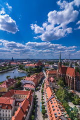 View of beautiful Wroclaw (Vagelis Pikoulas) Tags: poland wroclaw europe travel landscape city cityscape view river riverscape architecture fairytale canon 6d may spring 2018 sky skyscape clouds buildings