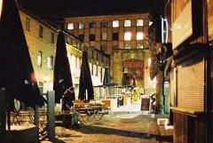 Camden Town Markets (goodfella2459) Tags: nikon f4 af nikkor 50mm f14d lens cinestill 800t night analog camden town markets london buildings light manilovefilm
