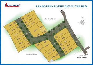 Bán đất KDC hiện hữu Huỳnh Tấn Phát DT 82.1m2, sổ đỏ, xây tự do, đường 7m, giá 1,75tỷ LH 0902747696