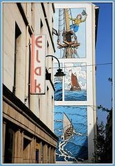 """Cori"" Bob de Moor, parcours BD Bruxelles, rue des Fabriques, bruxelles, Belgium (claude lina) Tags: claudelina belgium belgique belgië bruxelles brussels fresque artderue streetart cori bobdemoor dessin bd parcoursbd"