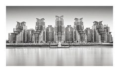 Invasion (GlennDriver) Tags: black white bw london long exposure city architecture building river thames england uk canon nd filter