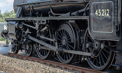Five wheels (mikeplonk) Tags: 45212 blackfive steamengine steamloco cathedralsexpress southwales nikon d5100 18140mm railtour barry wheels couplingrod railway train
