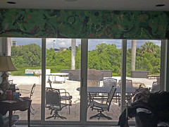 The Door to the Garden IMG_1428 (soniaadammurray - On & Off) Tags: iphone door slidingdoor interior exterior artwork furniture patio pooldeck garden trees creek school stadiumlights sky clouds ~~doorsportals~~ artweekgallerygroup home artchallenge