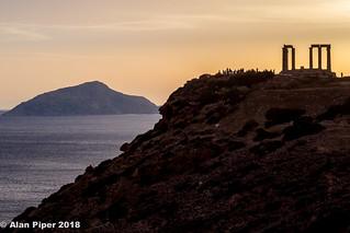 Temple of Poseidon sunset-2