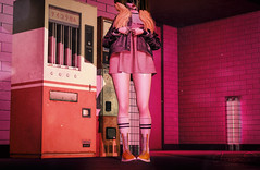 Unexpected (elocuenciaresident) Tags: hair truth lilo candy outfit amitomo young free gacha kustom9 shoes vale koer hey trainers fatpack n21 backdrop taikou summer night uber vending machines machine