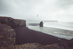 Looking South (lu★) Tags: iceland black sand south travel fog landscape