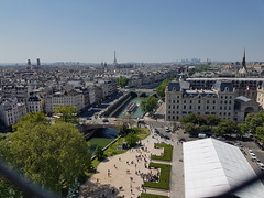 View of Paris from Notre-Dame Cathedral (Donald Morrison) Tags: cathédralenotredamedeparis notredame cathedral church paris france notredamedeparis frenchgothic architecture romancatholic