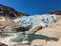 Nigardsbreen (ineowsianny63) Tags: jostedalsbreen norway noorwegen meltingglacier river ice mountain nigardsbreen glacier iphone8plus