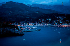 130-365 (JSTAR377) Tags: 365 photochallenge photo travel mallorca beach port portdesoller spain explore outdoors harbour night longex longexposure