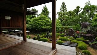Rainy Zen Rock Garden- waterfalls and Mt.Hourai / Shuon-an Ikkyu-ji Temple 酬恩庵 一休寺