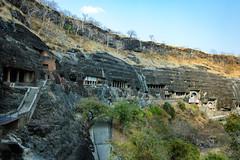 View of Ajanta caves !! (pankaj.anand) Tags: ajantacaves marvelofindia india travel travellog buddha sleepingbuddha canon canon60d widenangle february2018 2018 architecture architecturefromindia chaitya pankajanand pankajanand18 pankaj anand pankajanandphotography carvings deccan carvingsintemple