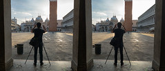 Morning St. Mark's square, Venice, Italy (urix5) Tags: 3d stereo stereoscopic stereoscopy stereopair crossview crosseyed venice italy venezia stmarkssquare piazzasanmarco