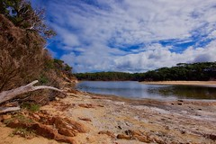 Lagoon (jack eastlake) Tags: wildbeachaus 06 clouds filter grad soft lee lagoon park national rocks mimosa