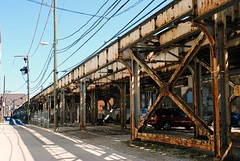 Brown Line L Tracks (Cragin Spring) Tags: chicago chicagoillinois chicagoil city midwest unitedstates usa urban unitedstatesofamerica elevated el l subway chicagosubway tracks nearnorthside