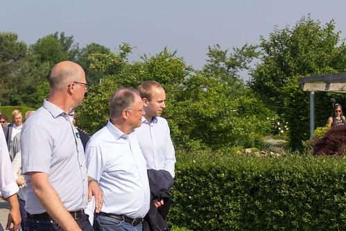 Besuch des Parks der Gärten in Rostrup mit Ministerpräsident Weil.