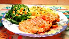 Hungry? (marijanaivljanin993) Tags: food lunch meat macaroni salad meal huawei kitchen plate camera photo day