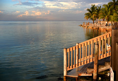 Steps to Tranquility (Anthony Mark Images) Tags: water ocean caribbeansea steps wooden woodensteps palmtrees clouds sunset ripples reflections tranquilty serenity peaceful quiet mobay montegobay jamaica westindies caribbean lovely pretty beautiful gorgeous