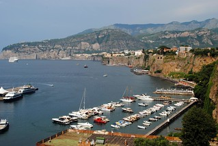 Sorrento harbour and Sant'Agnello