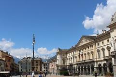 Aosta - Marktplatz (W.D. Dreyer) Tags: aosta aostatal piemont italien