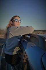 Watching the Sun Set at JTNP (Spebak) Tags: jtnp joshuatree nationalpark may 2018 california spebak canon canondslr canon70d kid girl sunglasses car sitting outdoors